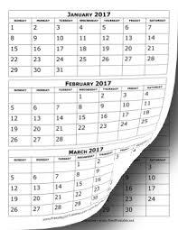 printable calendar generator 2017 calendar three months per page calendar i haven t checked this