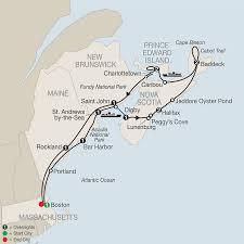 Portland Australia Map by New England U0026 Canada Tours Globus
