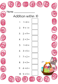 easter addition within 10 and 20 by topmarksed teaching