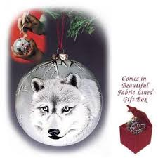painted wolf ornament fig 1010 the parks company