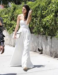 kendall jenner jumpsuit style kendall jenner is winning in white solace