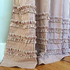 Brown Ruffle Shower Curtain by Shower Curtains U2013 Southern Ticking Co