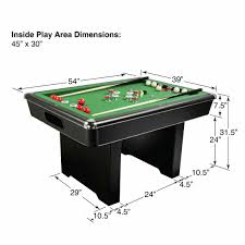 what are the dimensions of a pool table amazon com hathaway renegade 54 in slate bumper pool table for