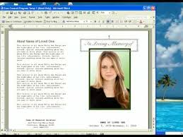 Funeral Program Sample Free Funeral Program Template Youtube