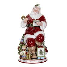 amazon com spode christmas tree sculptural santa cookie jar