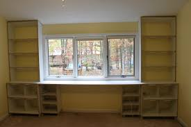 Ikea Bookcase And Desk Wall Units Awesome Built In Desks And Bookshelves Built In Desks