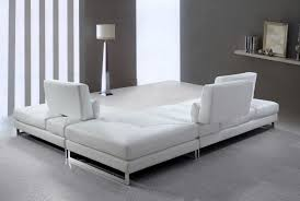 White Leather Sofas Applying Modern White Leather Sectional For Your Living Room