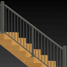 adjustable angle stair rail kit by solutions aluminum railing