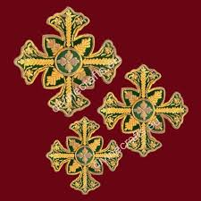 byzantine crosses embroidered cross set for byzantine