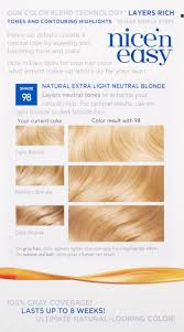 nice n easy permanent color natural extra light neutral blonde 98