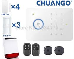 wireless home security alarm system chuango g5 alarm kits with dwc
