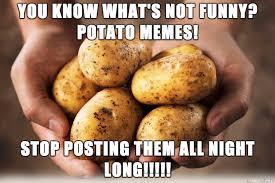 Meme Potato - potato memes aren t funny meme on imgur