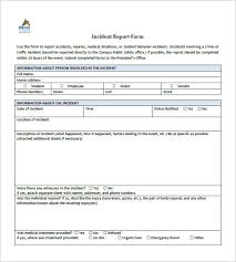 incident report template 35 free word pdf format download