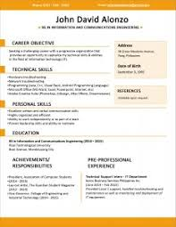 Free Download Sample Resume by Free Resume Templates Example Resumes For High Students