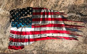 Usa Flag History Tattered American Metal Flag Old Glory Torn American Us