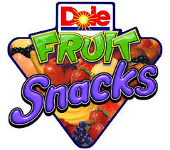 dole fruit snacks logos chameleon studios packaging point of sale and
