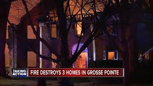 three homes three homes damaged in grosse pointe