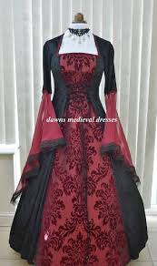 renaissance medieval goth pagan black u0026 red wedding dress dawns
