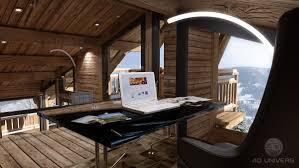 chalet bureau programme immobilière 3d à megeve le chalet la blanche 4d