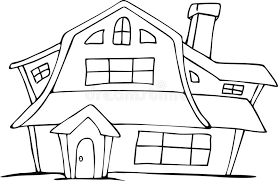 drawing houses cartoon hand drawing dutch house stock vector illustration of