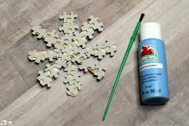 how to make a puzzle snowflake ornament craft