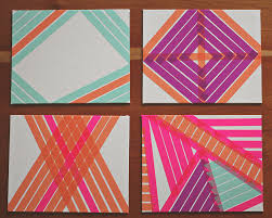 washi tape designs diy washi tape art a study on patterns and color a simpler design