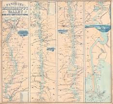 Map Of The Mississippi River A Most Interesting Mississippi River Map Rare U0026 Antique Maps