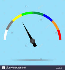 Color Spectrum Indicator Color Spectrum Barometer Full Vector Index And Pointer