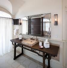 modern vanity table bathroom beach with area rug asian console