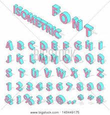 isometric alphabet typography text vector u0026 photo bigstock