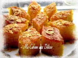 recette de cuisine alg駻ienne moderne basboussa gâteau de semoule recettes de cuisine algérienne