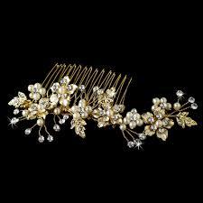 pearl hair comb bridal pearl hair comb accent comb 039 gold