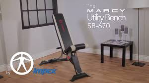 marcy utility bench sb 670 youtube