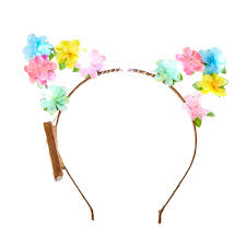 claires headbands light up pastel flower cat ears headband s us
