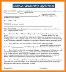 6 partnership agreement contract packaging clerks