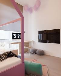 a minimalist family home with a bedroom for kids
