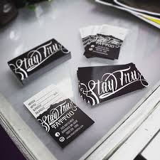 business cards stay tru tattoo logo pinterest