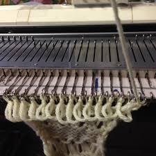 broomstick knitting broomstick lace on the knitting machine alessandrina