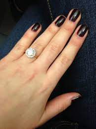 engagement rings size 8 2 to 3 carat rings on size 7 to 8 fingers weddingbee pic