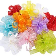 pull ribbon net fabric pom pom bow gift pull white bow ribbon for products