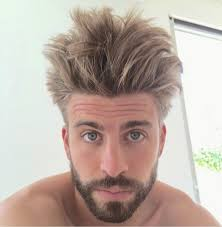 online hairstyle magazines gérard pique shows off new crazy hairstyle nigeria s online