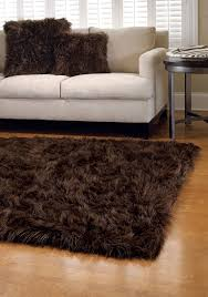 flooring u0026 rugs contemporary brown faux fur rug design with white