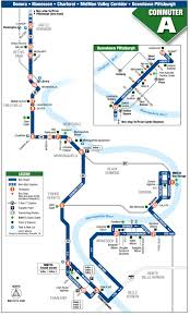 Megabus Route Map by Commuter A Mid Mon Valley Transit