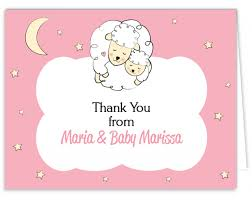 baby shower thank you cards pink white gray elephant baby shower