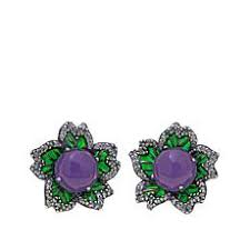 purple earrings jade of yesteryear earrings hsn