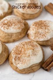 eggnog frosted snickerdoodles crazy for crust