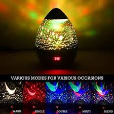 kids night light with timer night light multiple colors star rotating projector timer auto shut