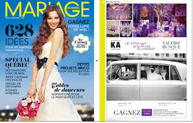 magazine mariage mariage québec magazine ka mariage publiée