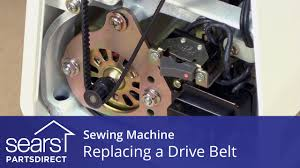 how to replace a sewing machine drive belt youtube