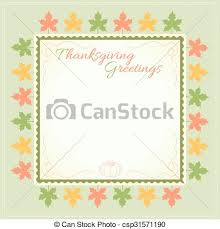 thanksgiving day menu template in vector eps vectors search clip